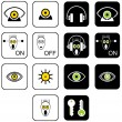 Royalty-Free Stock Imagem Vetorial: Set of icons for musical web site