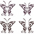 Butterfly pattern tattoo — Stock Vector #1017515