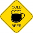 Cold beer - sign - Stockvectorbeeld