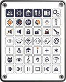 Conjunto de iconos en blanco placa — Vector de stock