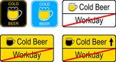 Beer signs — 图库矢量图片