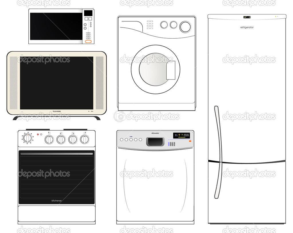 household appliances — Stock Vector © Chetverikov Daniil #