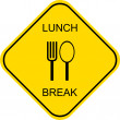 Stock Vector: Lunch break - sign