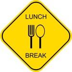 Lunch break - sign — Stock Vector