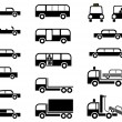 Cars - set of vector icons — Stock Vector