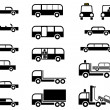 Cars - set of vector icons - Stock Vector