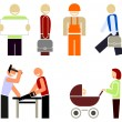 Royalty-Free Stock Vector Image: The of various occupations