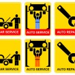 Auto service - sign - Stock Vector