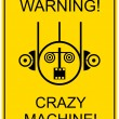Stock Vector: Crazy machine - sign