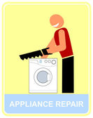 Repair and service of household applianc — Stock Vector