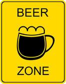 Beer zone - sign — Stock Vector