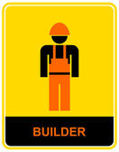 Builder - sign — Vettoriale Stock