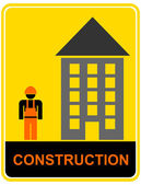 Construction - sign — Stock Vector
