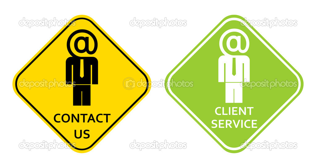 contact us client service sign stock vector jazzia 1020869. Black Bedroom Furniture Sets. Home Design Ideas