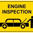 Stock Vector: Engine inspection - sign