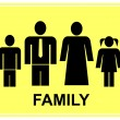 Royalty-Free Stock 矢量图片: Family - sign