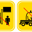 Forklift - prohibited sign — Stock Vector #1034874