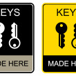 Royalty-Free Stock Imagen vectorial: Keys made here - sign