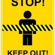 Stock Vector: Stop, keep out - sign