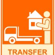 Conveyance, transfer - sign — Image vectorielle