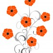 Royalty-Free Stock Vector Image: Floral background - poppy