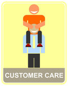 Customer care - icon — Stock Vector