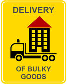 Delivery of bulky goods — Stock Vector