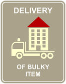 Delivery of bulky item — Stock Vector