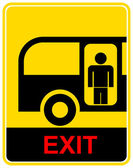 Bus stop, exit - sign — Stock Vector