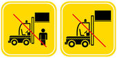 Forklift - prohibited sign — Stock Vector