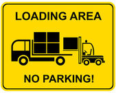 Loading area - no parking — Stock Vector