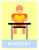 Nursery - vector icon, sign. — Stock Vector