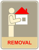 Removal - sign — Vettoriale Stock