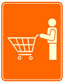 Shopping trolley - sign — Stock Vector