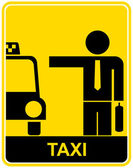 Taxi - sign, symbol — Stock Vector