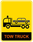 Tow truck - sign — Stock Vector