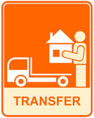 Moyen de transport, transfert - signe — Vecteur