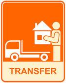 Transporte, transferencia - señal — Vector de stock