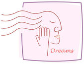 Dreaming girl — Stock Vector