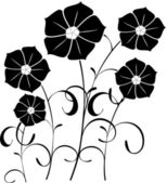 Flower silhouette — Stock Vector