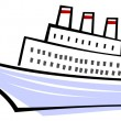 Ocean liner - ship — Vector de stock