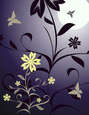 Vector floral illustration — Stock Vector