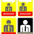Royalty-Free Stock Imagem Vetorial: Manager, office worker