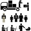 Royalty-Free Stock Vektorfiler: Set of vector pictograms