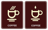 Coffee cup - cafe icon — Stock Vector