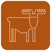 Elk — Stock Vector