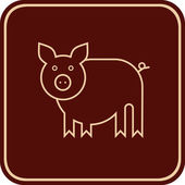 Pig - vector sign — Stock Vector