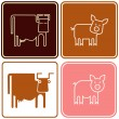 Pig and cow - sign — Stock Vector #1426492