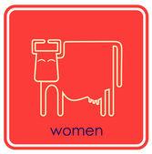 WC - vector sign, symbol — Stock Vector