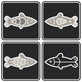 Fish - vector icon — Stock Vector